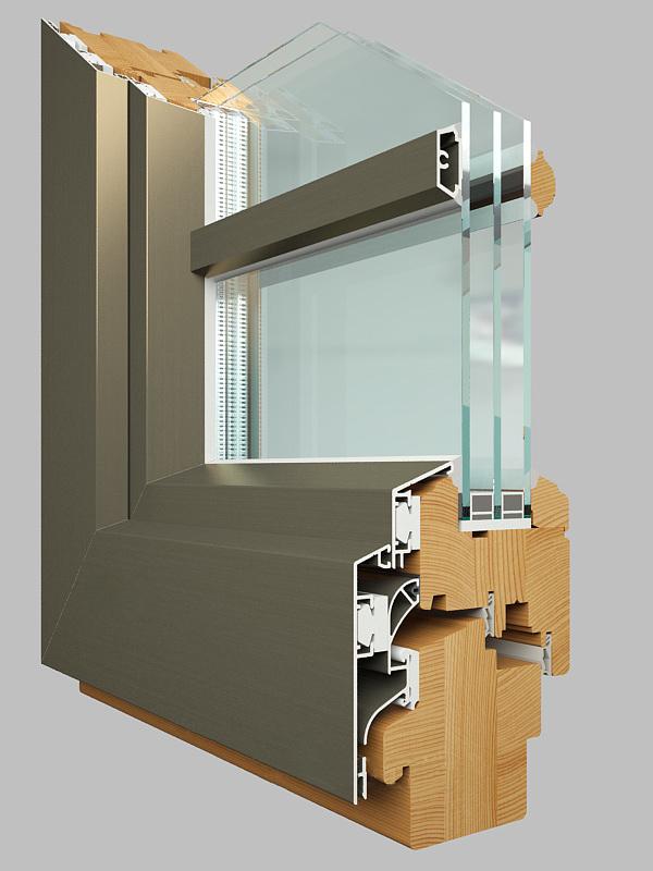 Дерево-алюминиевые окна цена - евро окна деревоалюминиевые о.